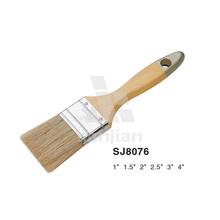 Sjie8076 Nylon Bristle Oil Paint Brush Wooden Handle