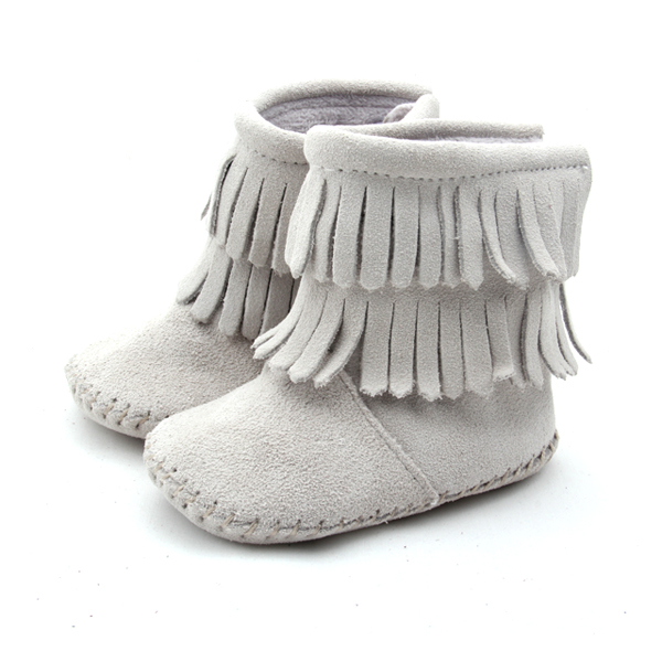 Multi-Color Genuine Leather Moccasins Baby Boots