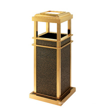 Edelstahl-High-End-Mülleimer für Lobby (YW0054)