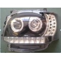 Toyota hiace-2010  HID head lamp-black for Van bus ,Mini bus