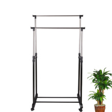Chine Double Rod Rolling Clothes Horse Iron Rack