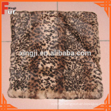 European Grade Leopard Spot Printed Rabbit Fur Cushion