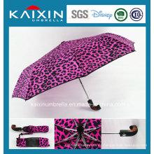 Paraguas plegable abierto y cierre del patrón modificado para requisitos particulares