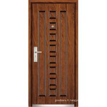 Porte en bois d'intérieur en acier (WX-SW-106)