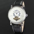 Leather Belt Mechanical Custom Mens Wrist Watch