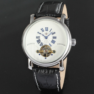 Whosale OEM/ODM Leather band automatic mens watch