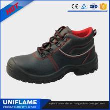 Zapatos de seguridad de cuero para hombres, botas de trabajo Ufa011