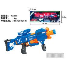 Con flash y sonido eléctrico luminoso pistola de juguete suave bala