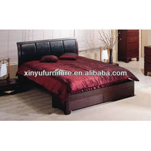 High-class Wood Platform and bent Headboard Bed XY0203