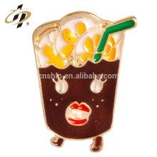 Nouveau design fer estampage approvisionnement personnaliser boisson émail boutons boutons