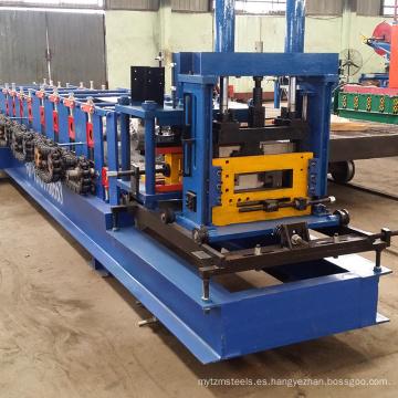 De alta velocidad de corte hidráulico de acero perfil canal forma de Metal Stud C canal de acero C correa rollo formando máquina