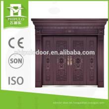 Puerta exterior del cobre del chalet del alto brillo de los nuevos productos del fabricante de China