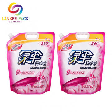 Penghalang Tinggi Waterproof Spout Pouch Liquid Packaging