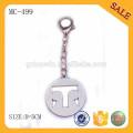 MC499 Custom graviertes Logo Metall Kettenanhänger für Tasche
