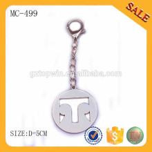 MC499 Etiqueta de encargo de la cadena del metal de la insignia para el bolso