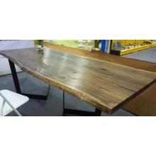 Borde de nogal americano pegado mesa para mesa de comedor