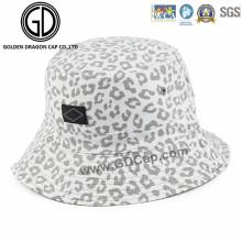 New Arrival Beautiful White Leopard Print Fashion Bucket Hat