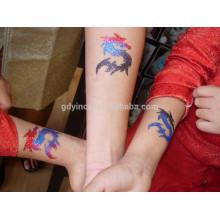 Glitter em pó com adesivo de tatuagem de design exclusivo