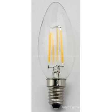 Lâmpadas de filamento do diodo emissor de luz da vela C35 3.5W 120V