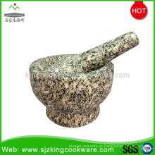 almofariz e pilão de pedra mármore / granito personalizado / almofariz & pilão