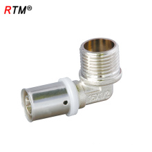 Un codo de presión de latón de codo de 17 4 13 que encaja el codo masculino pex al pex pipe fitting fitting