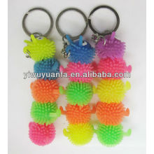 Caterpillar Flashing Yoyo Puffer Ball Keychain