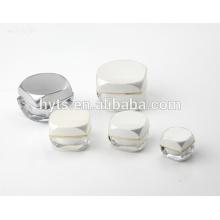 cosmético quadrado forma acrílica jar 50ml