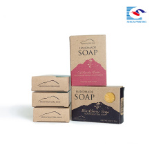 Custom Printed Folding box for perfume soaps Handmade wedding gift soap packaging box with custom logo printed