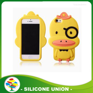 Hot selling cute silicone cartoon mobile phone sets