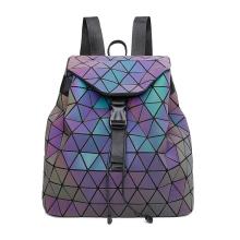 Mochilas luminosas geométricas del bolso de escuela del diamante del laser