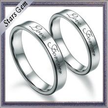 Мода высокое качество простой сплошной Серебряный обручальное кольцо для подарка