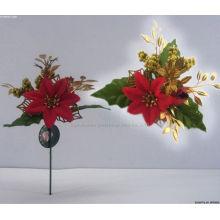 Пластиковые декоративные Рождественские поинсеттиа елочные выбирает