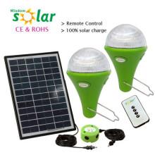 Venta por mayor mini kits de luz solares, kit solar casa solar, luz iluminación del hogar