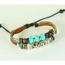 Pendant Bracelet Leather Bracelet Bangle Bracelet Jewelry Bracelet Charm Bracelet with Blue Turquoise KSKS-42