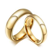 Ensembles de bague de mariage en tungstène doré