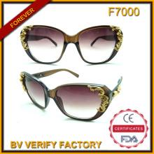 F7000 Gafas de sol moda con flor para las mujeres