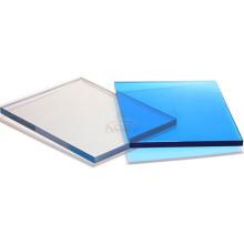 Plástico transparente Hoja de techado de policarbonato resistente a los rayos UV sólido