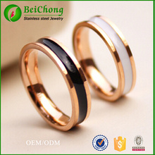 fashion new women 18 k rose gold  glue titanium steel  ring