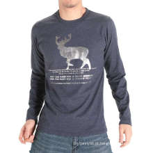 Fabricação na China Fábrica Impressão Moda Algodão Homens Tshirt