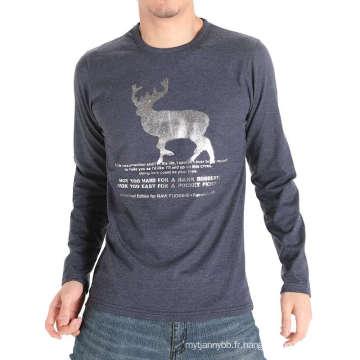 Fabrication en Chine Usine Impression Mode Coton Hommes T-shirt