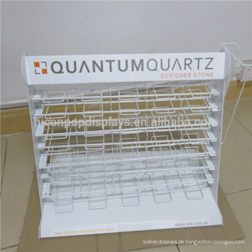 Multifunktionszähler Top Wire Mesh Multi-Layer Square Shape Muster Wandfliese Display Rack