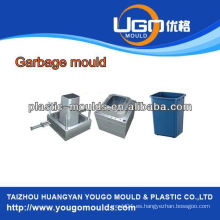 Plástico de la industria platic basura molde Inyección platic trash can