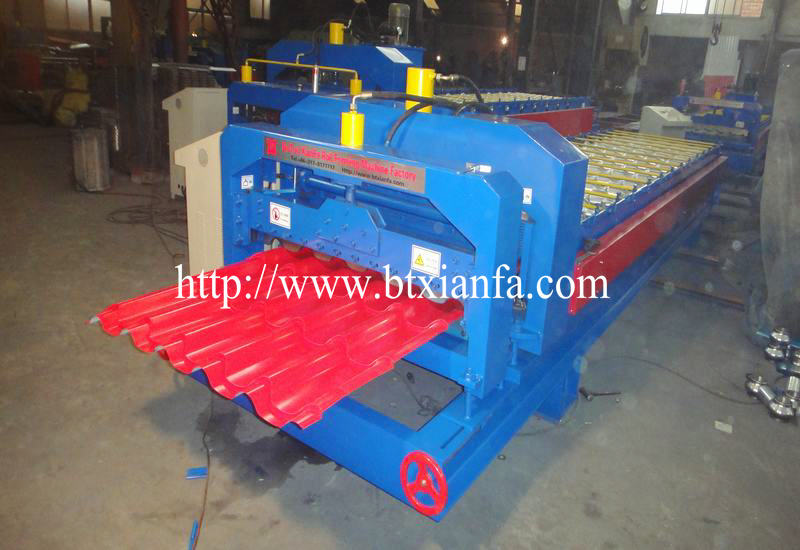 glazed tile panel roof machine 2