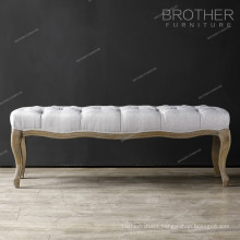 Thickened wear-resisting furniture tufted ottoman for bedroom