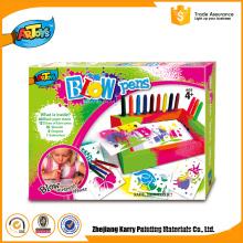 Popular para o mercado Color Box Crianças Arte sopro marcadores de arte canetas de sopro canetas de sopro
