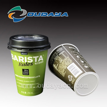 Hot Coffee Cup Milktea Behälter mit Deckel