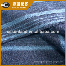 100% polyester stripe style velour fabric for fashion wear