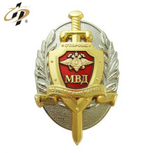 Customize zinc alloy dual plate metal enamel badges