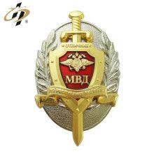 Personalize emblemas duplos do esmalte do metal da placa da liga de zinco