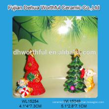Venta al por mayor personalizar la decoración de Navidad polyresin en forma de mono